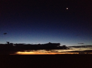 Pre-dawn this morning.