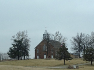 A beautiful church somewhere along Highway 34 in Iowa.