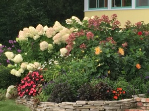 Blessing in the flowers on Mackinac Island.